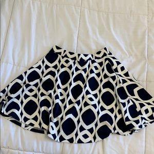 Print skirt   two piece set   Aqua   small